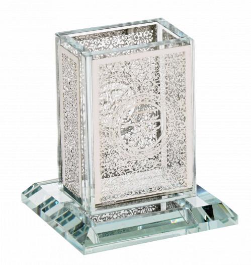 Silverplated Havdalah Set With Filigree